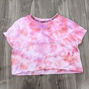 Forever 21 Pink Tie-dye Cropped t-shirt Med